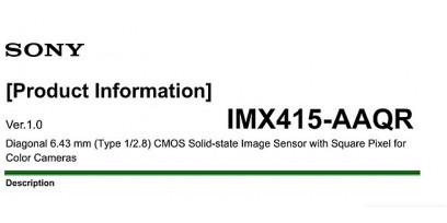 CMOS SONY IMX415-AAQR STARVIS описание параметры