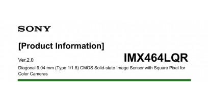 Информация о продукте CMOS SONY IMX 464