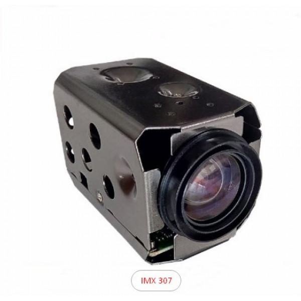 IP ZOOM модуль низкой освещенности CMOS SONY IMX 307 в сборе с моторизованным объективом 18X Авто фокус  Авто Ирис