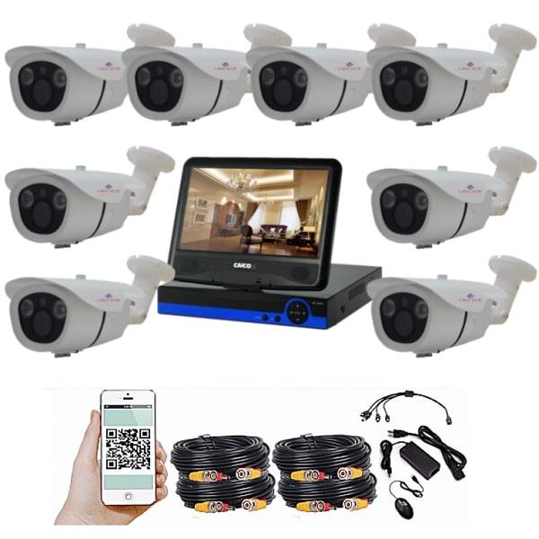 """CAICO TECH HD 5077FF комплект наблюдения с монитором 10"""" 26см на 8 камер"""