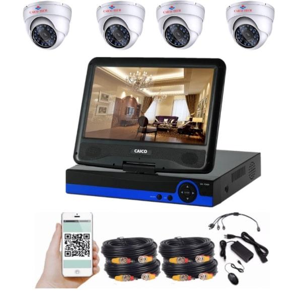 """CAICO TECH HD 5944FF комплект с монитором 10"""" 26см  на 4 камеры"""
