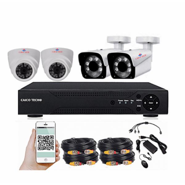 Комплект наблюдения CAICO TECH 2024 DR 4 уличными камерами 2Мп