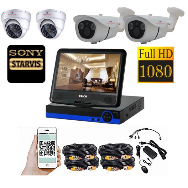 Комплект наблюдения CAICO TECH HD 5967FF с монитором 26см 4 камеры