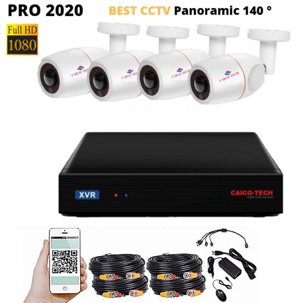 Комплект наблюдения CAICO 8804TD 4 камеры 2Mp Panoramic