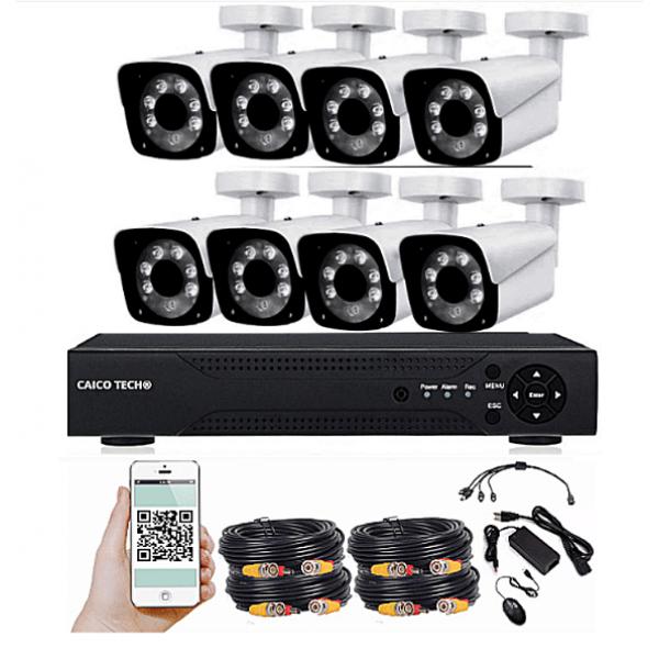 Комплект наблюдения CAICO TECH 1515FK 8 камер 1Мп уличные