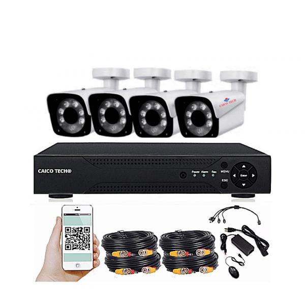 Комплект наблюдения CAICO TECH 14919NS 4 уличными камерами 1Мп