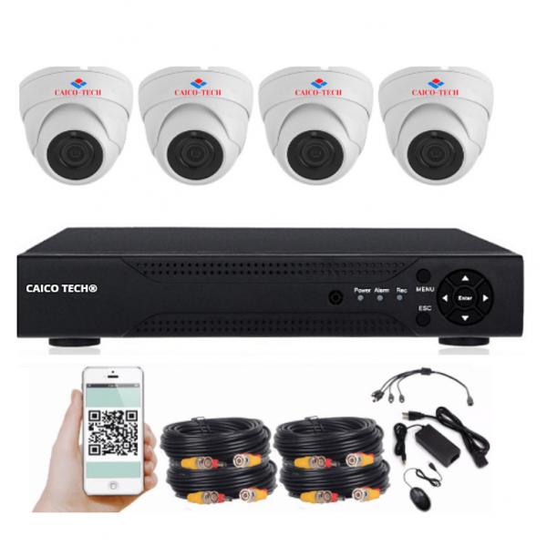 Комплект наблюдения в помещении CAICO TECH 2020DF на 4 камеры 2 Mp
