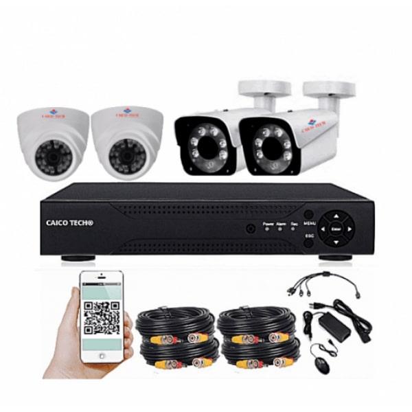 Комплект наблюдения CAICO TECH 2178GF 4 камеры 1Мп улица помещение